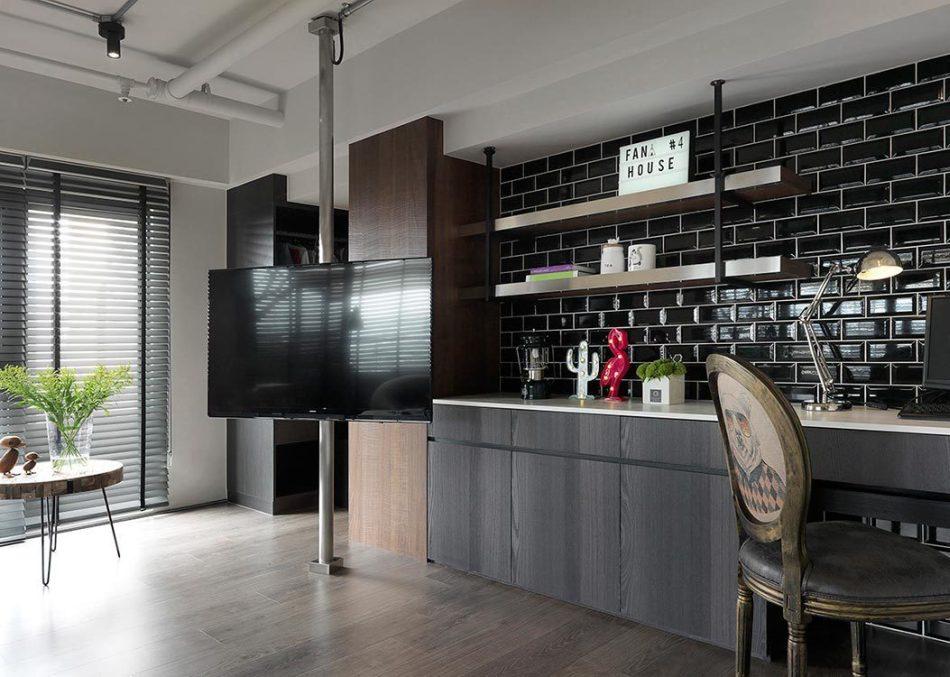 工业风格起居室欣赏图