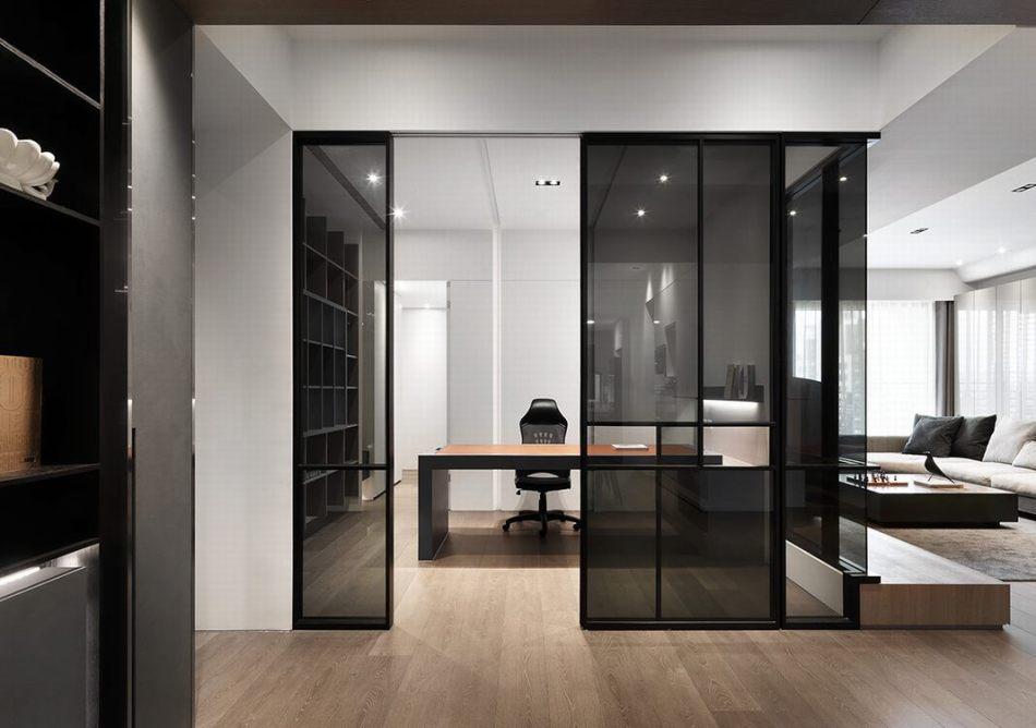 现代风格玻璃隔间设计图片