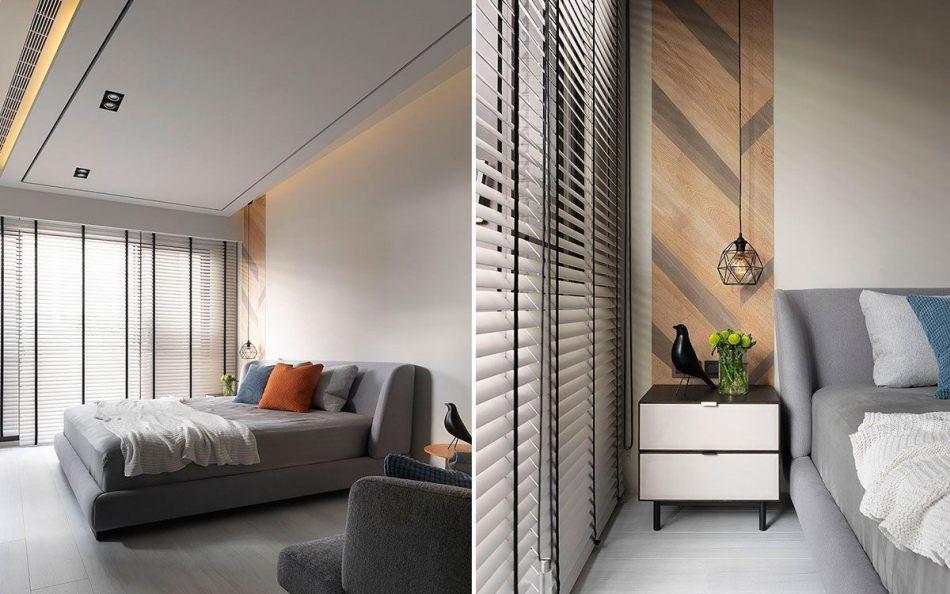 现代风格床头主墙效果图