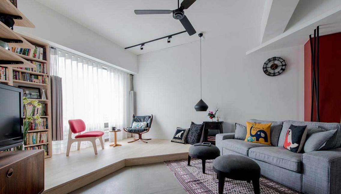 工业风格客厅及休憩区装修效果图