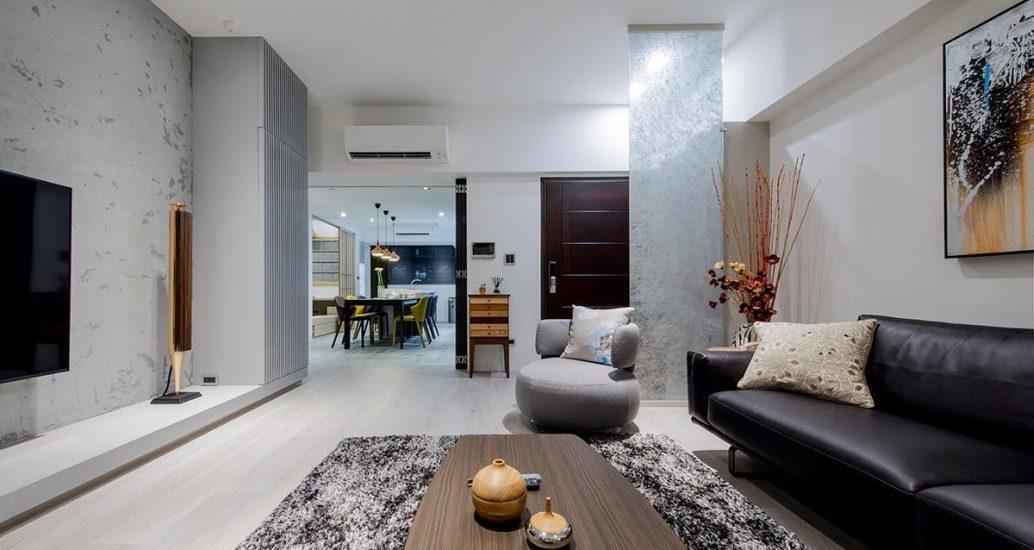 现代风格客厅望向餐厅效果图