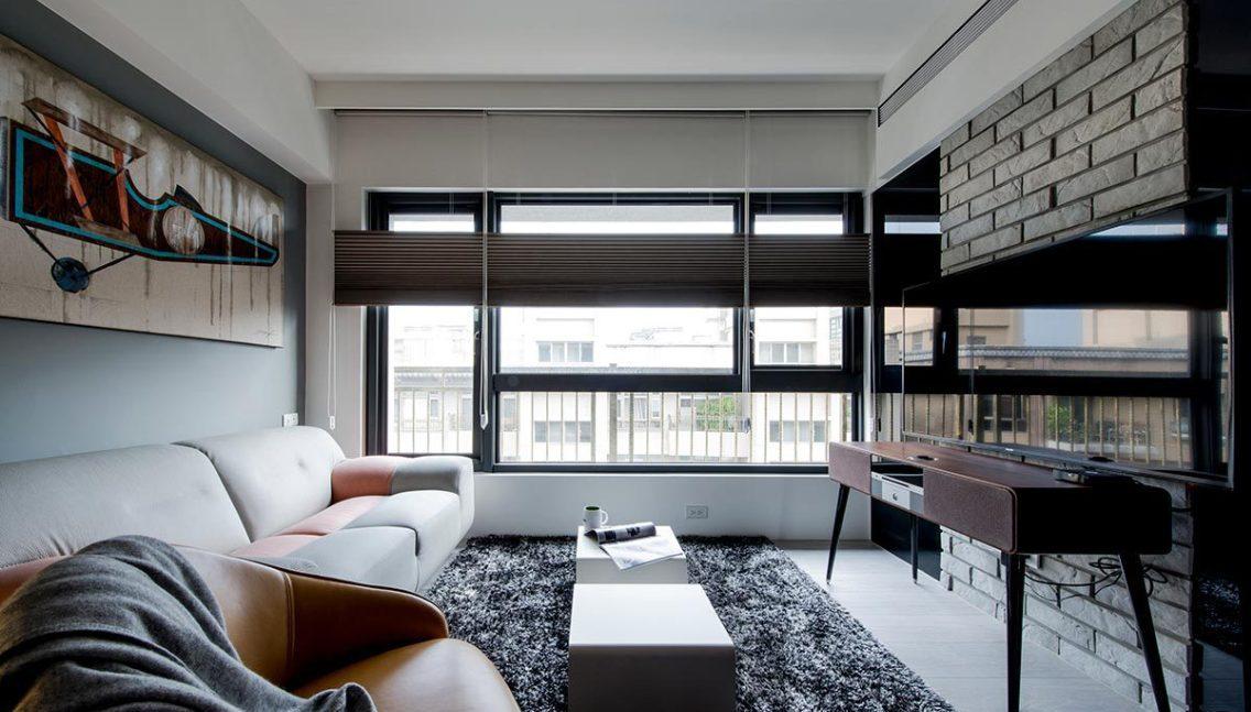 现代风格起居室效果图