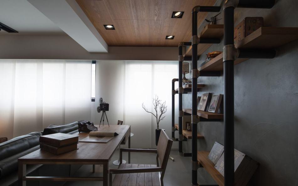 现代风格开放式书房设计图片