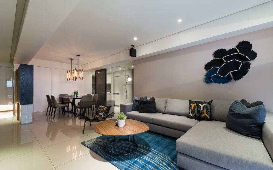 现代风格客厅背墙装修效果图