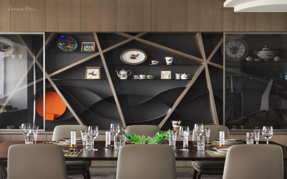现代风格餐厅端景设计效果图
