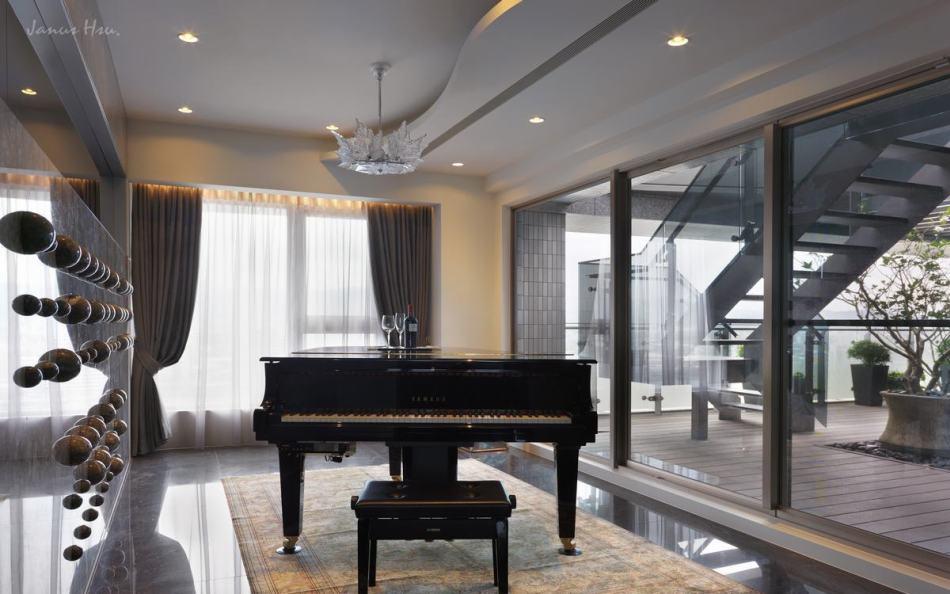 现代风格琴房设计效果图