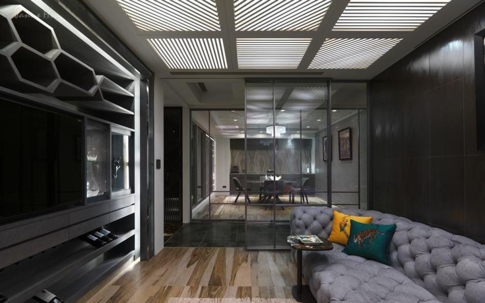 现代风格雪茄室&品酒室设计效果图