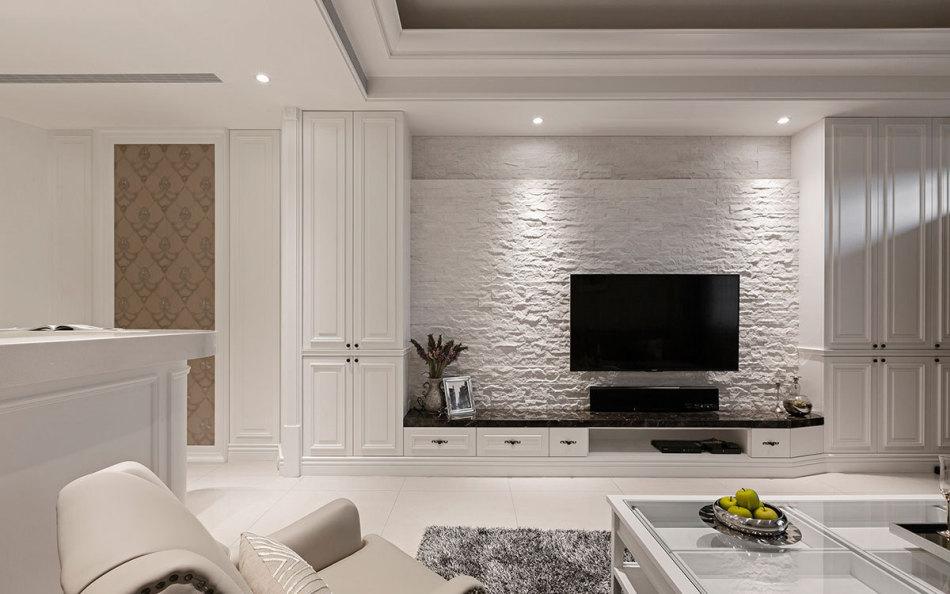美式风格电视墙欣赏图