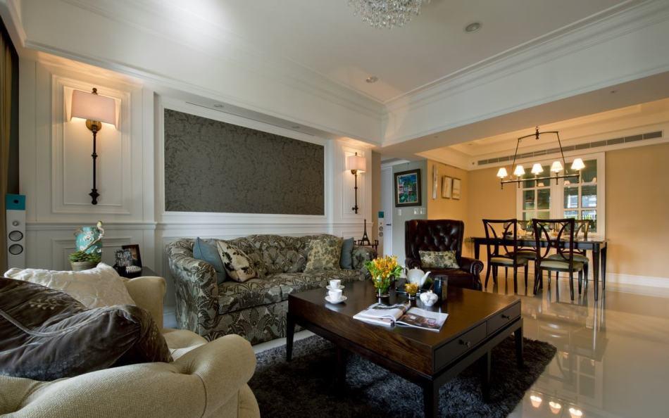 美式风格沙发背墙图片