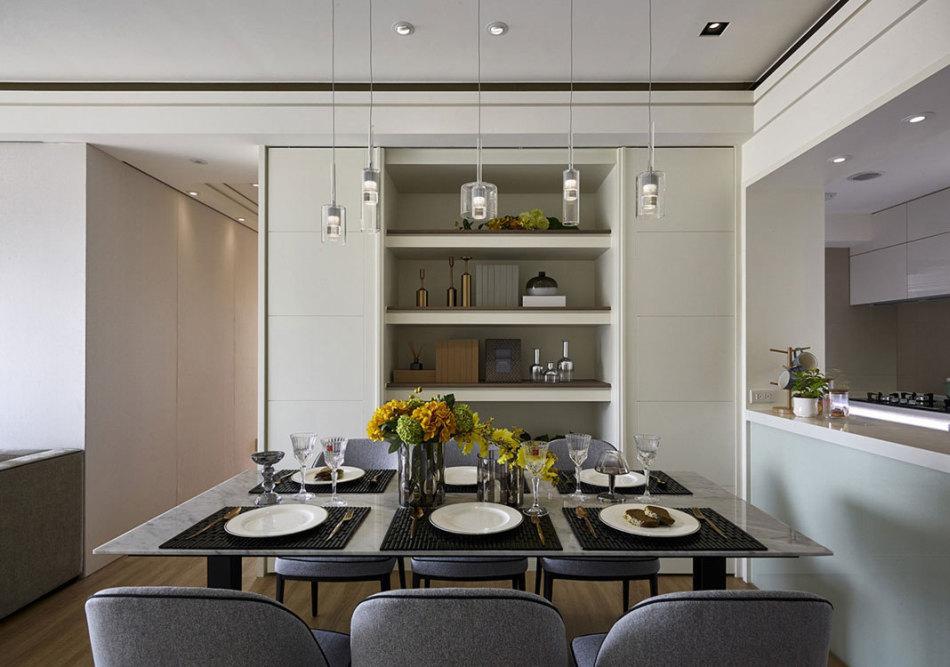现代风格餐厨区装修案例