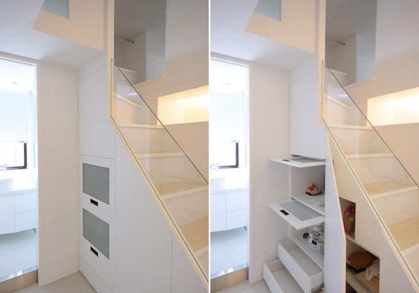 现代风格楼梯收纳设计图片