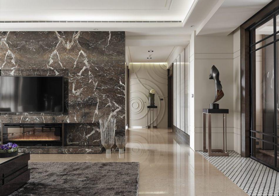 古典风格私领域廊道动线装修效果图
