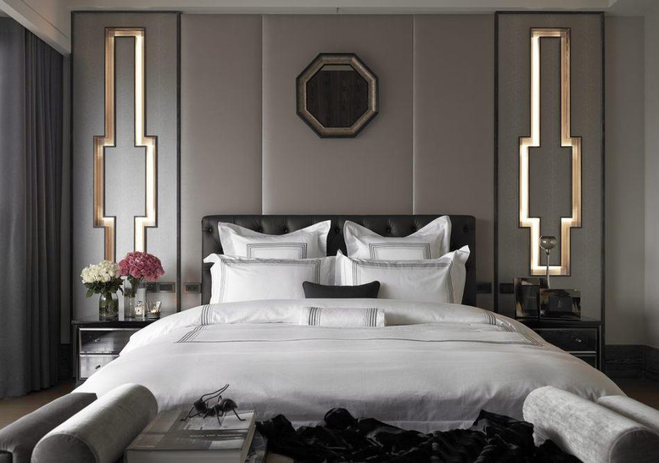 古典风格主卧床头装修效果图