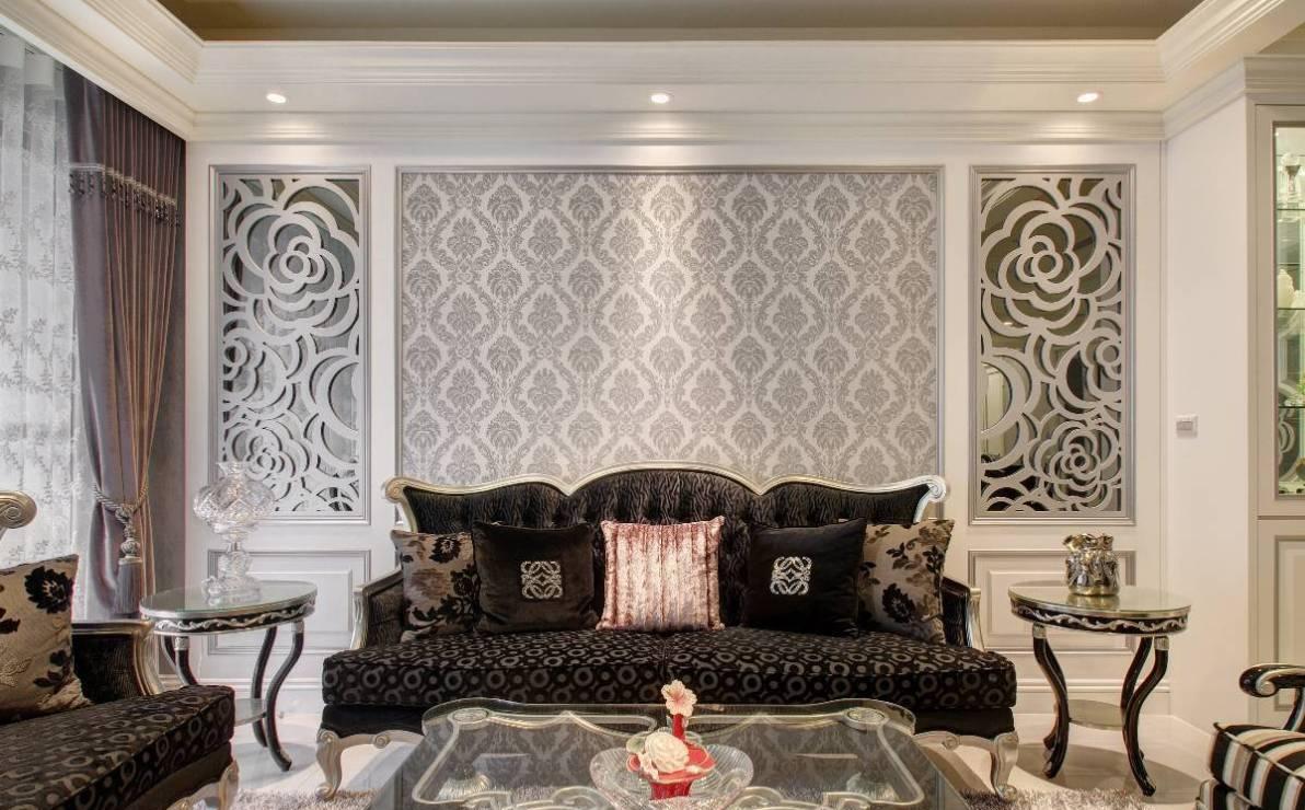 新古典沙发背墙设计效果图