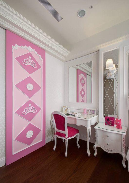 新古典女儿房梳妆区设计效果图