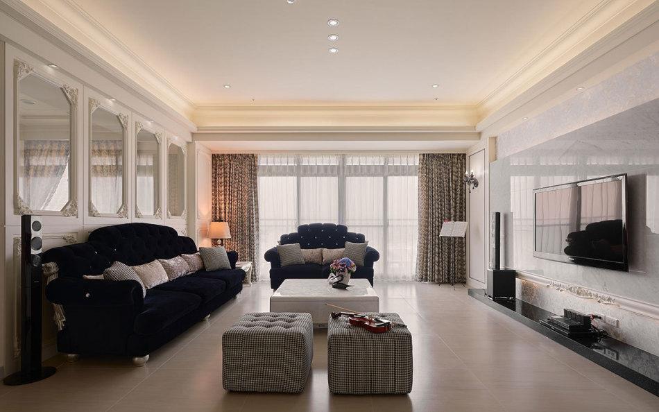 新古典客厅与书房图片