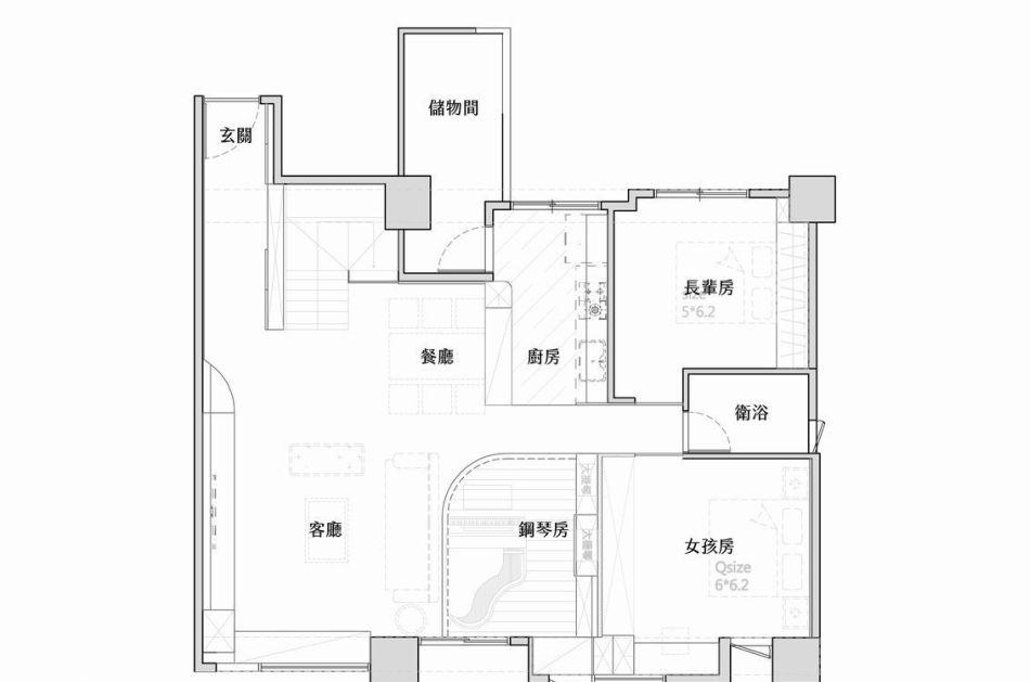 新古典1楼平面图效果图