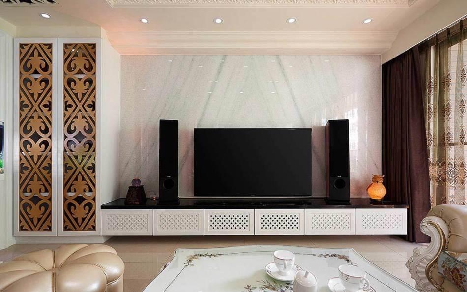新古典电视墙欣赏图