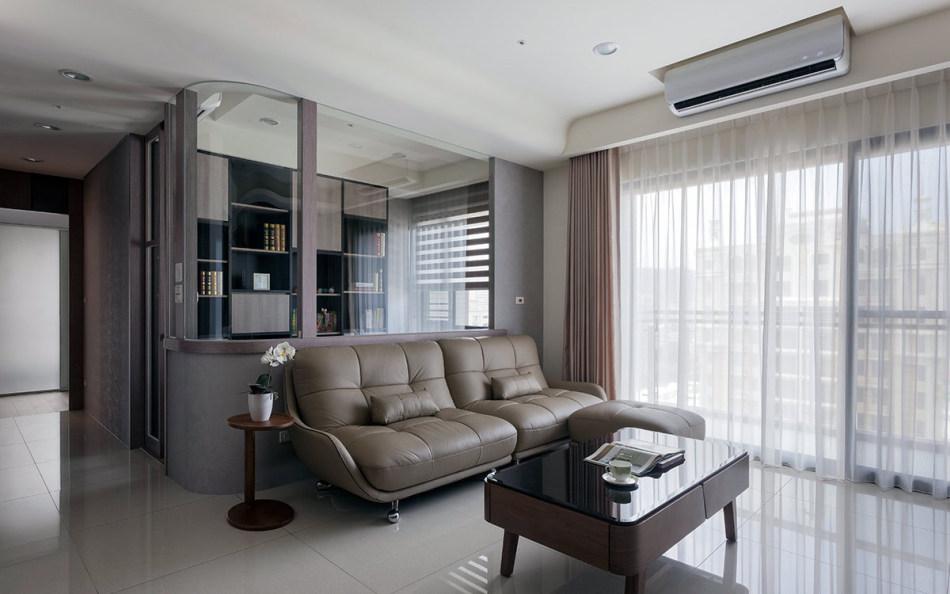 现代风格沙发背墙图