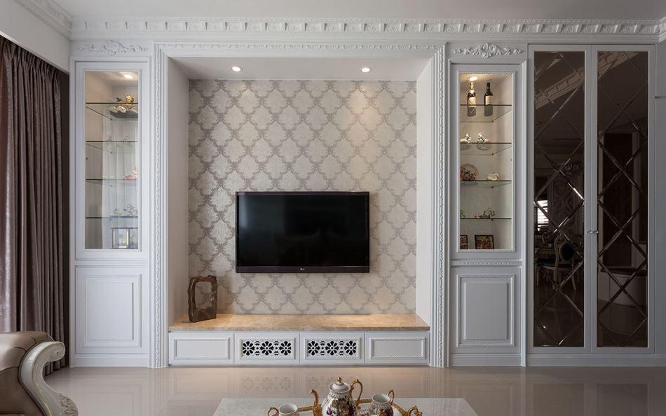 古典奢华电视主墙图片
