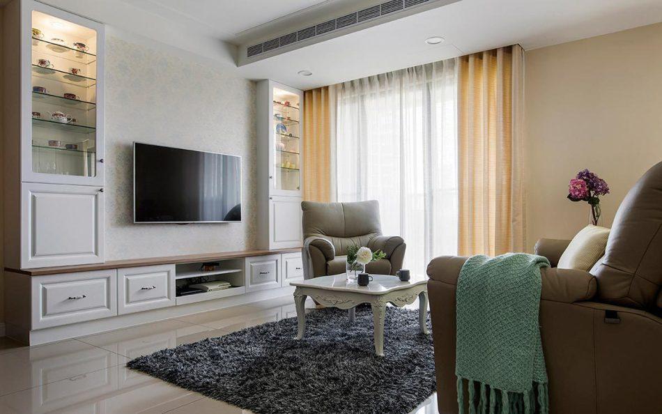 美式风格电视墙装修图片