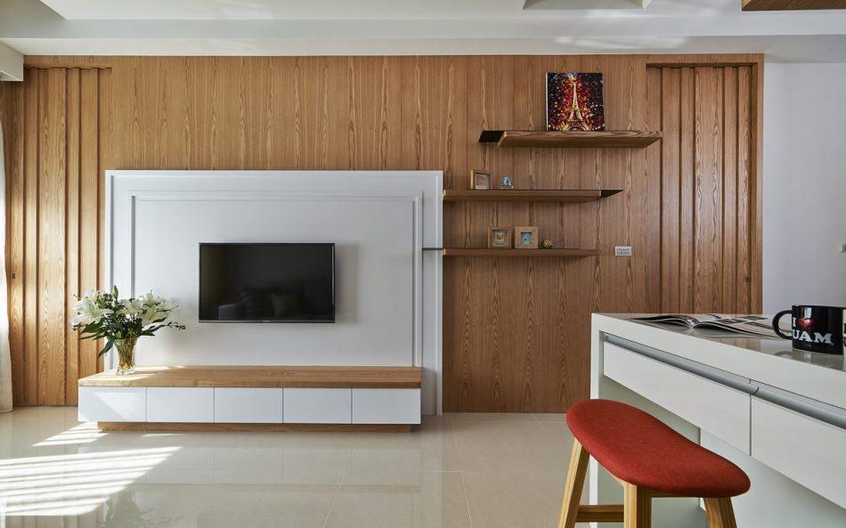 现代风格电视主墙装修图片