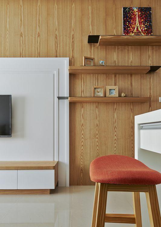 现代风格展示层架装修图片