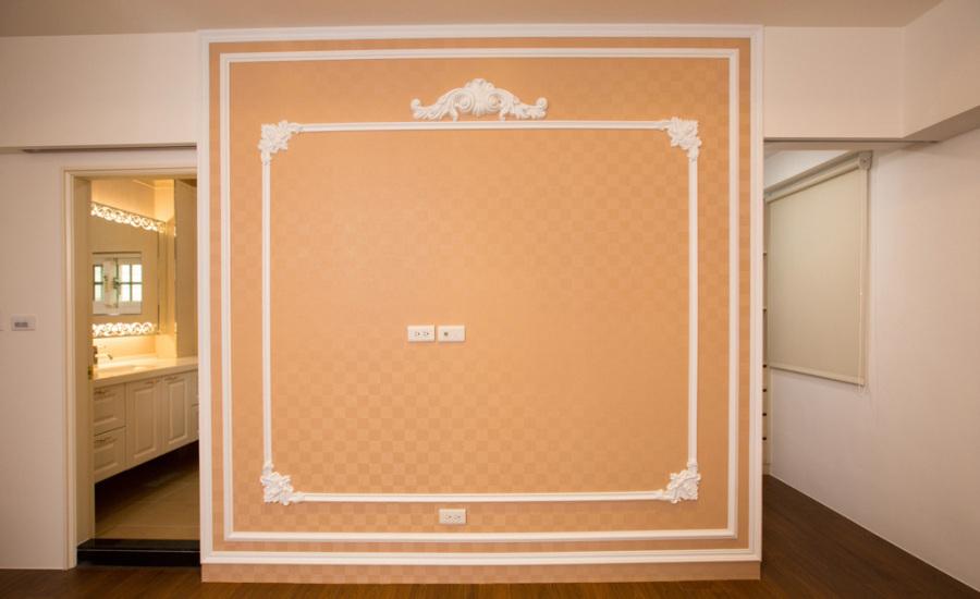 新古典电视墙图