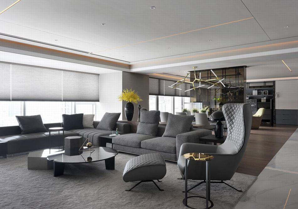 现代风格天花板装修案例