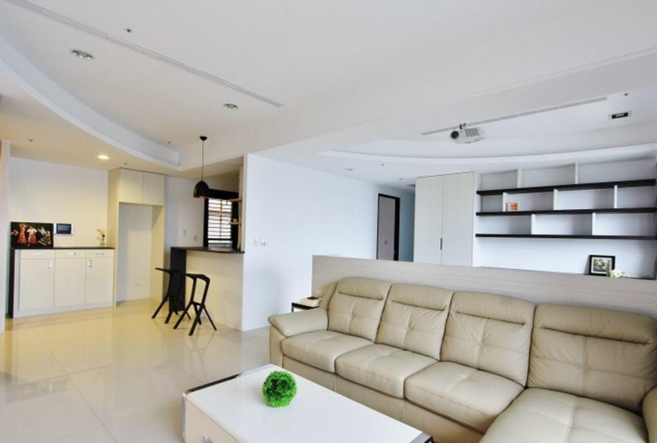 现代风格客厅与书房效果图