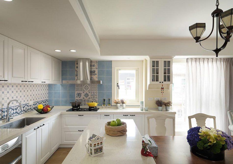 乡村风格厨房壁面效果图
