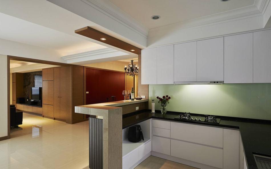 现代风格餐厨空间图