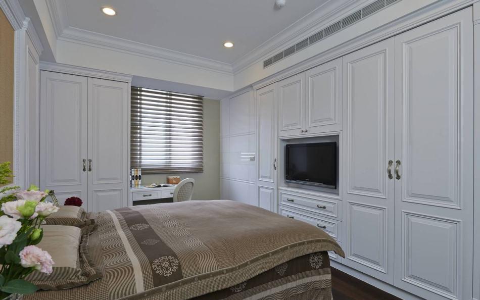 现代风格电视墙与衣柜图
