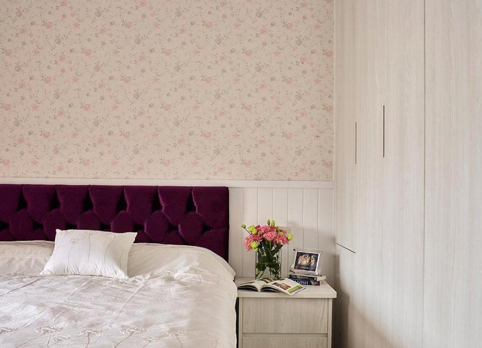 乡村风格床头主墙图片