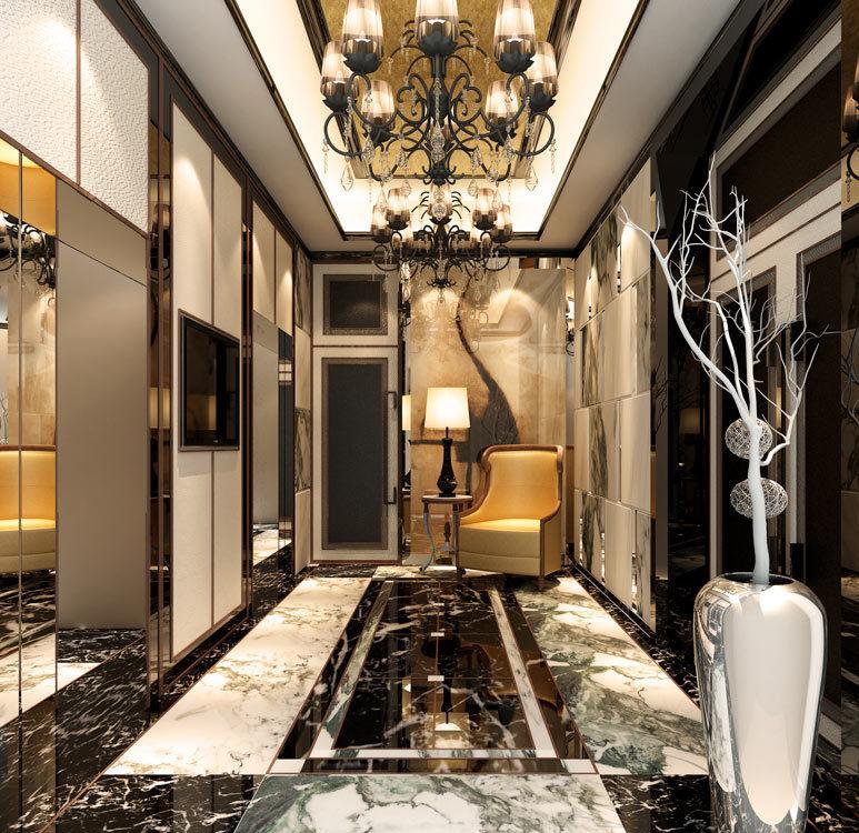 奢华风格梯间设计设计图片