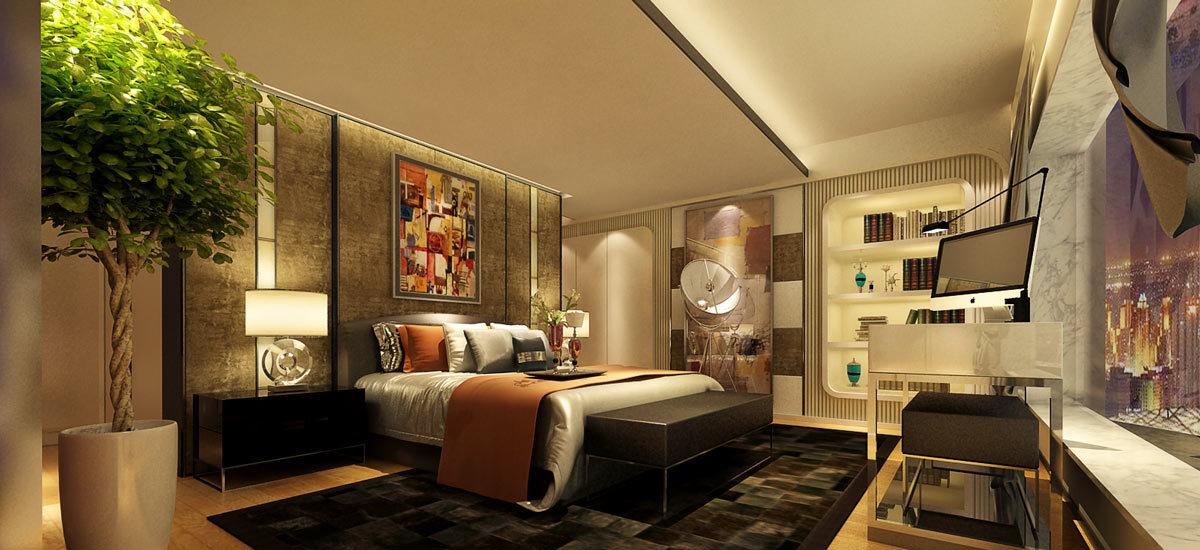 奢华风格卧房2设计图片