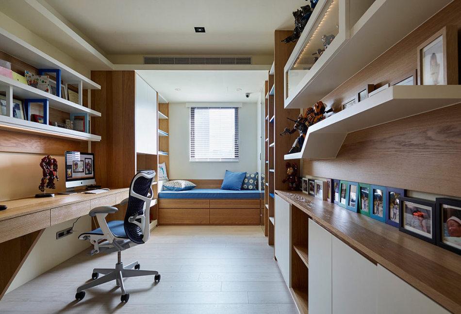 现代风格书房设计装修效果图