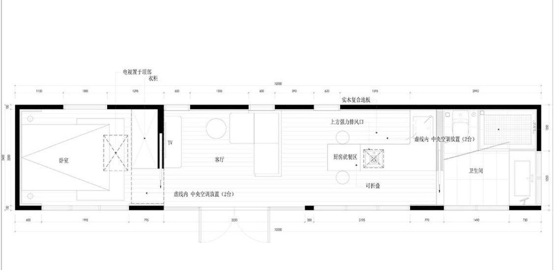 质朴自然风格一楼平面图装修效果图