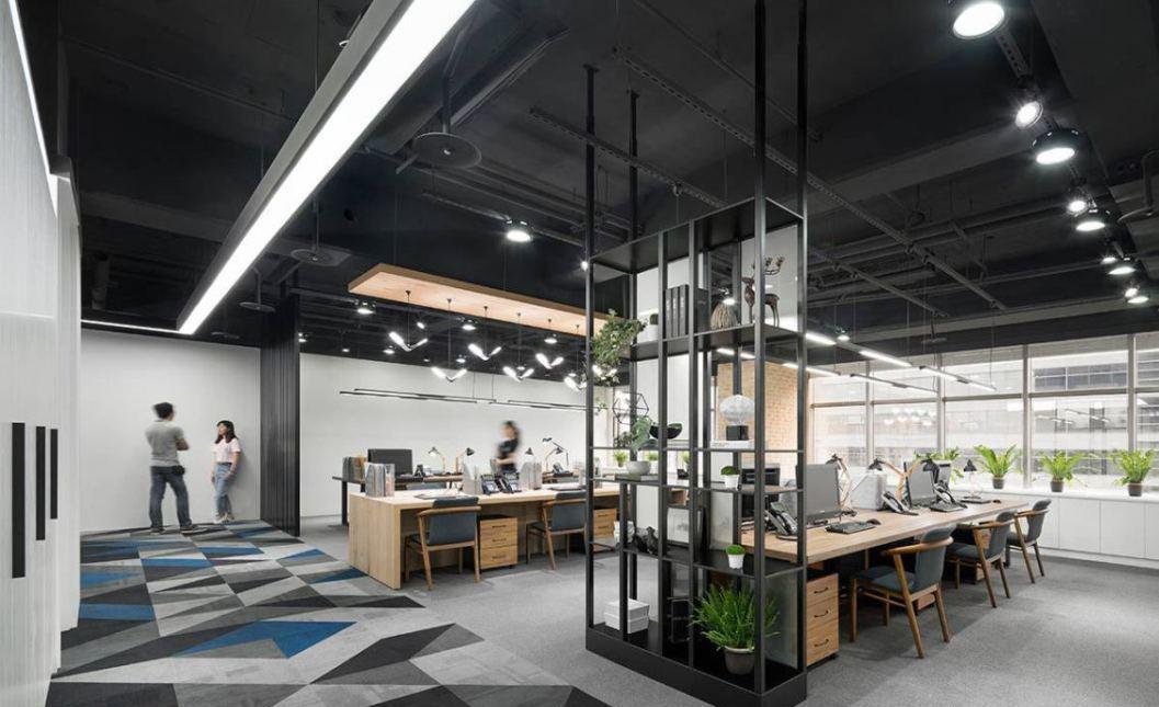 现代风格办公场域设计效果图