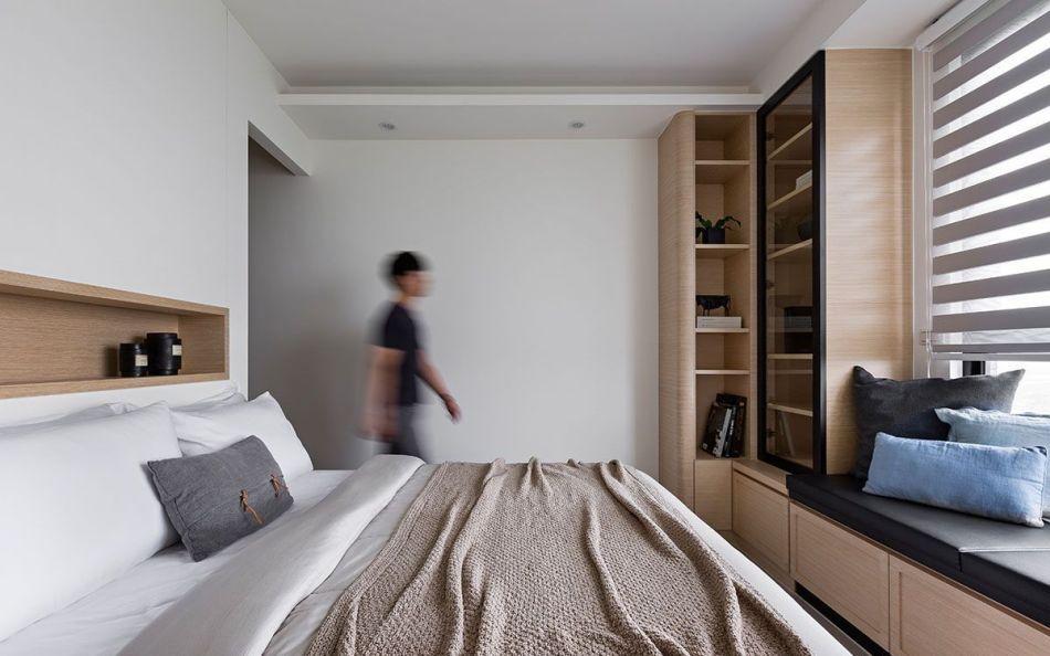 现代风格主卧室设计效果图