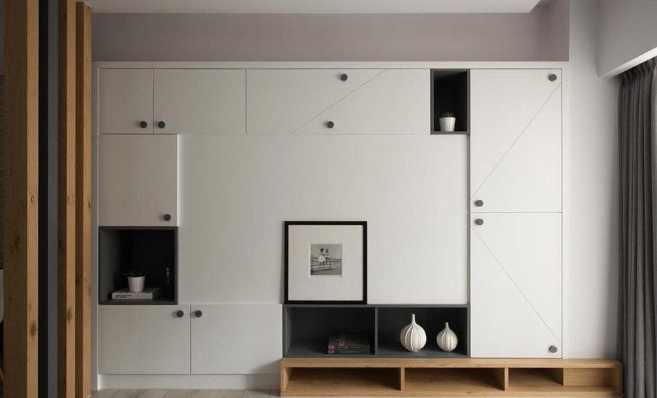 现代北欧风格电视墙图