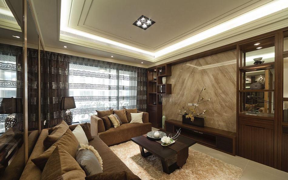 东方风格客厅-1装修效果图