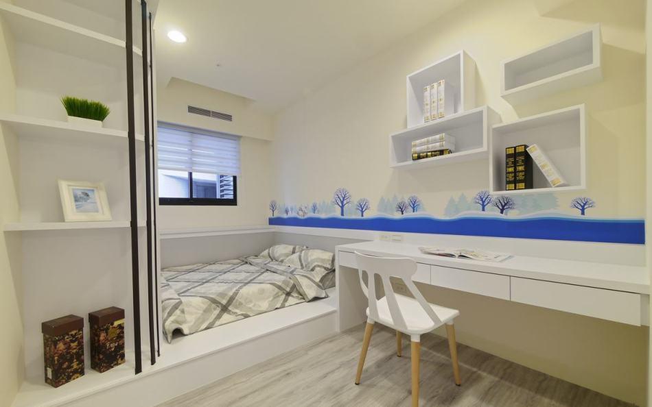 现代风格次卧室图