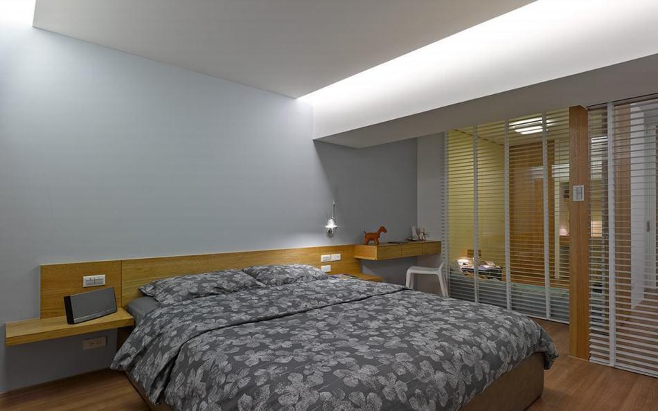 现代风格主卧室效果图