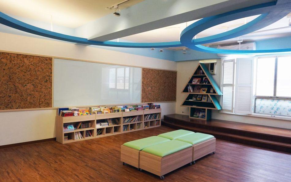 混搭风图书室内效果图