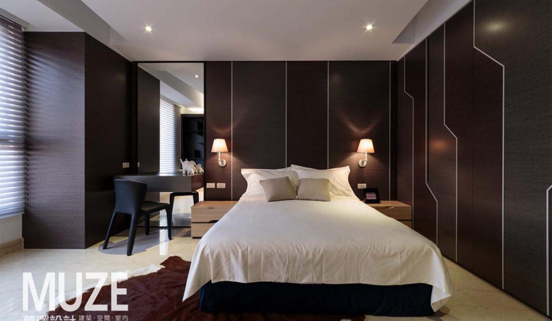 现代风格次卧房欣赏图