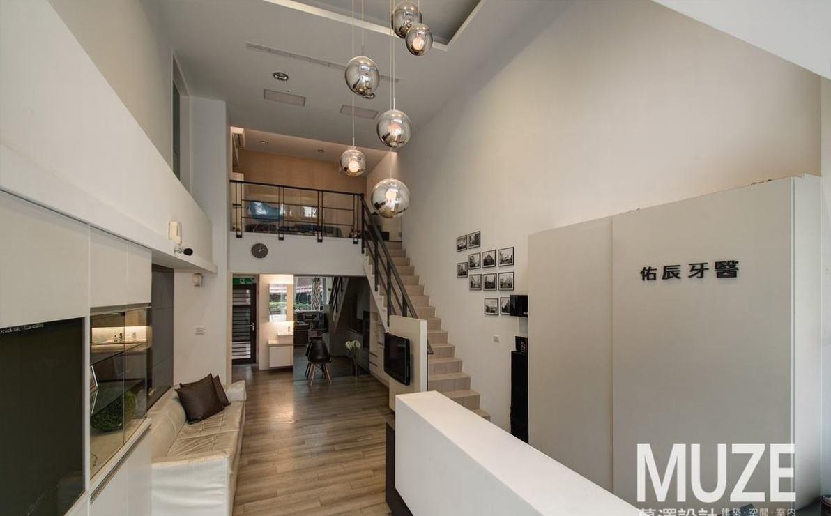 现代风格柜台与接待区设计效果图