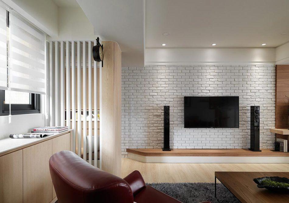 北欧风格电视墙装修效果图