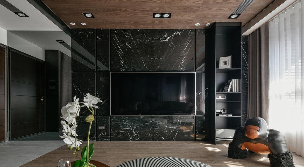 现代风格电视墙效果图