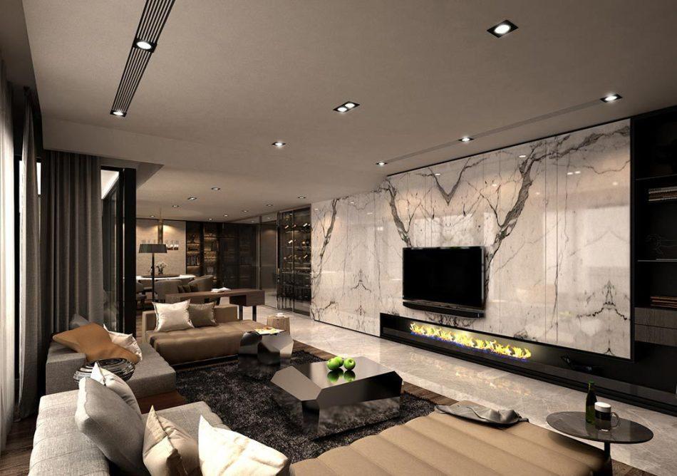 现代风格客厅欣赏图